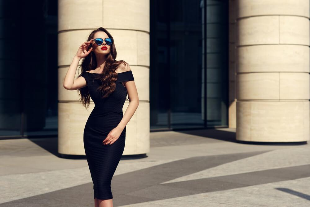 A classic fitted dress will show off your natural curves.