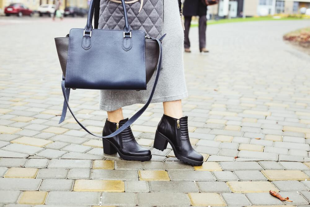 clunky-heeled boots
