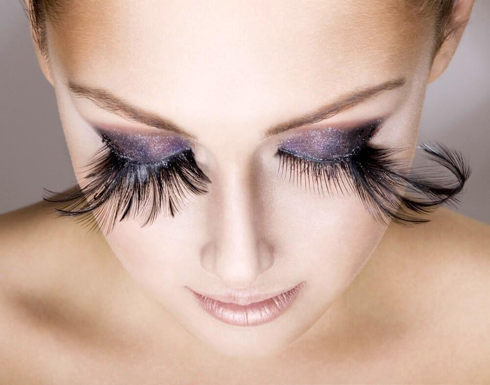 Feathered eyes look